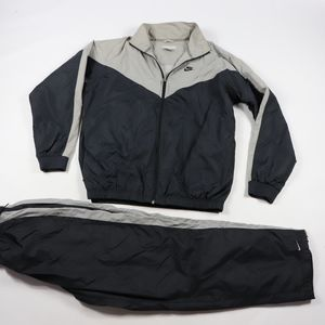 90s Nike Mens Large Spell Out 2 Piece Track Suit